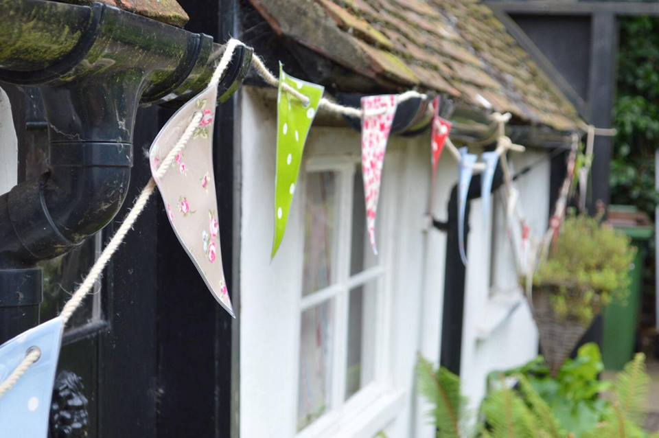 surprise party bunting decorations