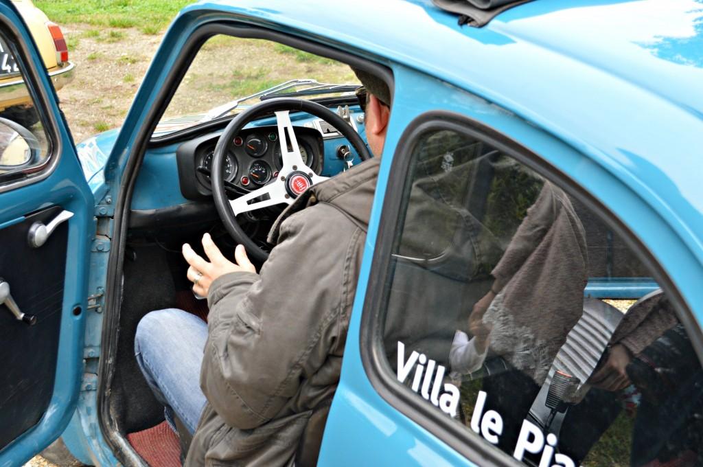 Beppe in Vintage Fiat 500