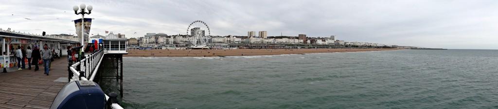 Brighton pier panoramic