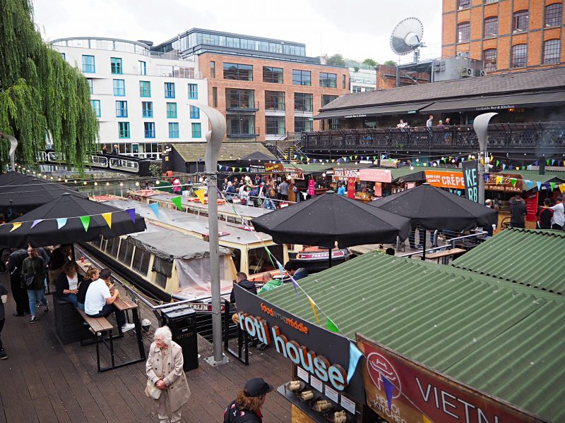 Things to do in Camden, London. Visit Camden Market for good street food and interesting shops.