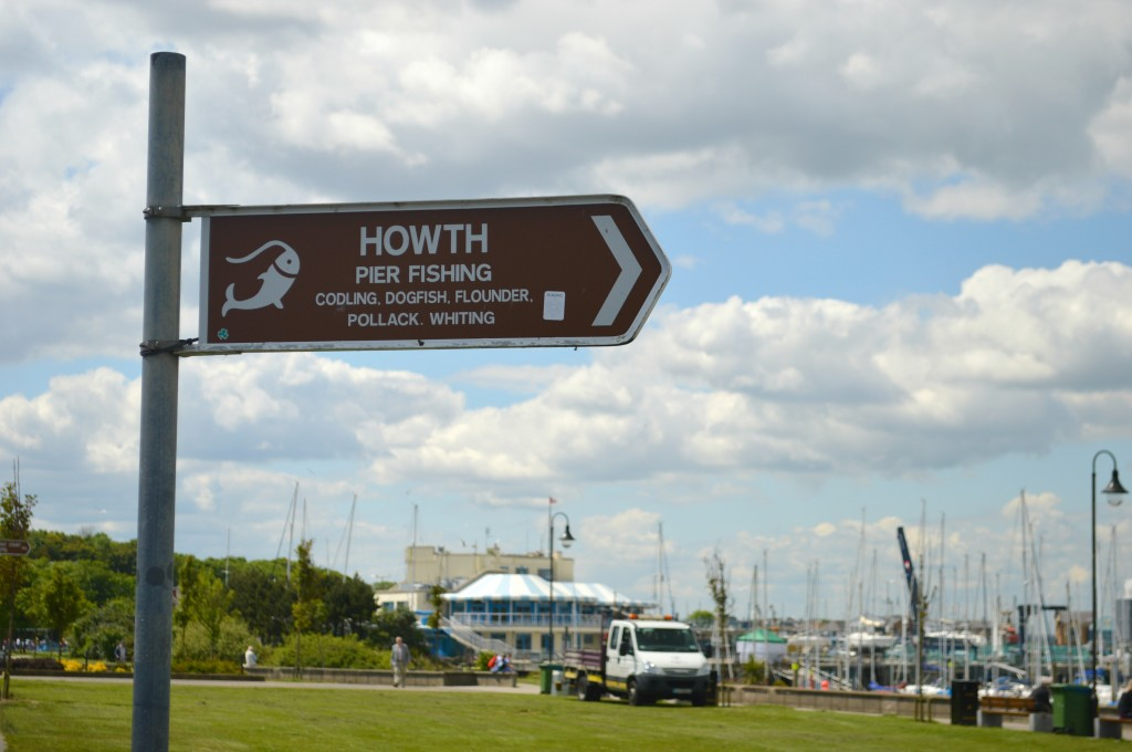 Howth fishing sign