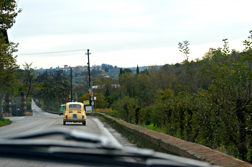 Driving Fiats in Tuscany, vintage fiat 500 tour tuscany