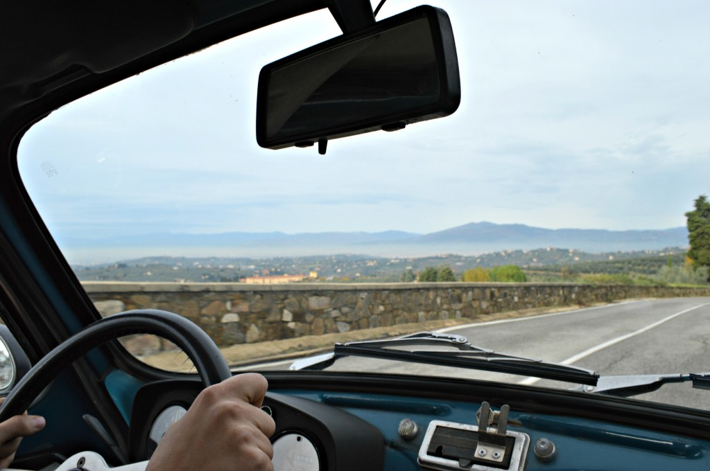 Driving Vintage Fiats in Tuscany