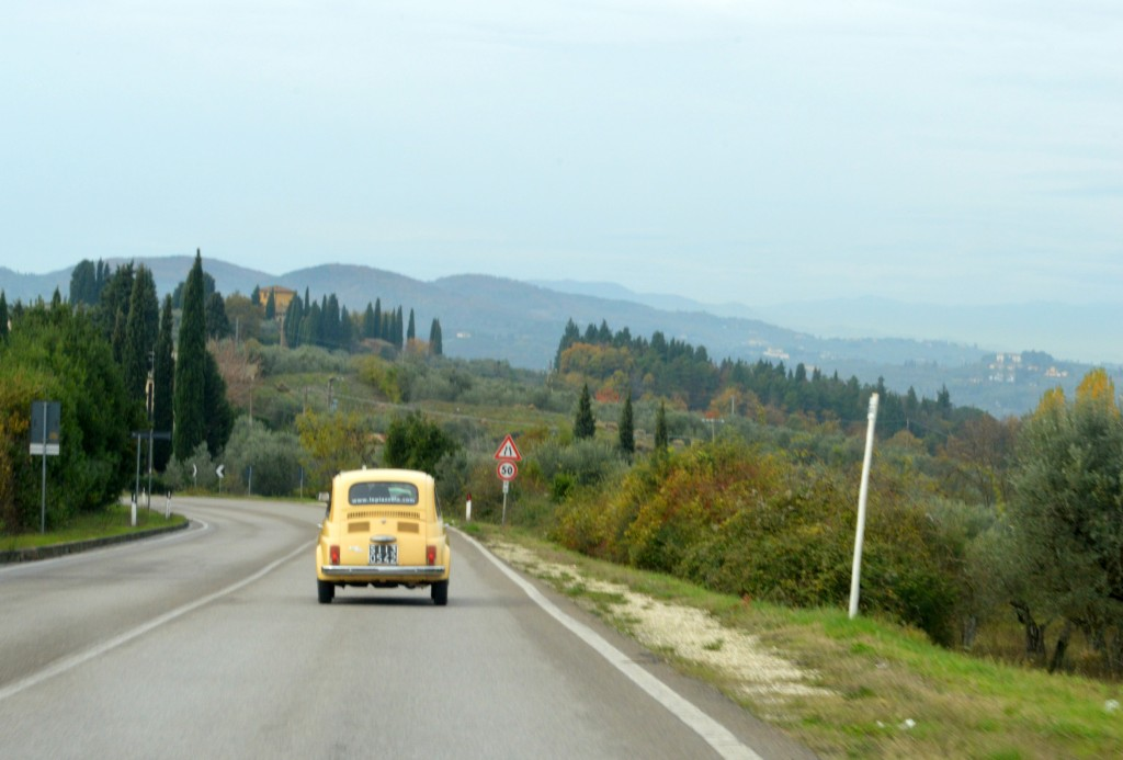 Fiat 500 tour around Tuscany, tuscany tour fiat