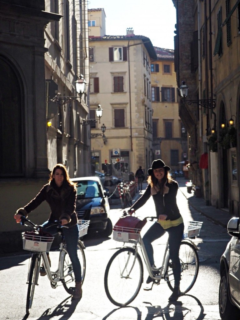 Girls riding bikes in Florence. From stylish travel site Love and London