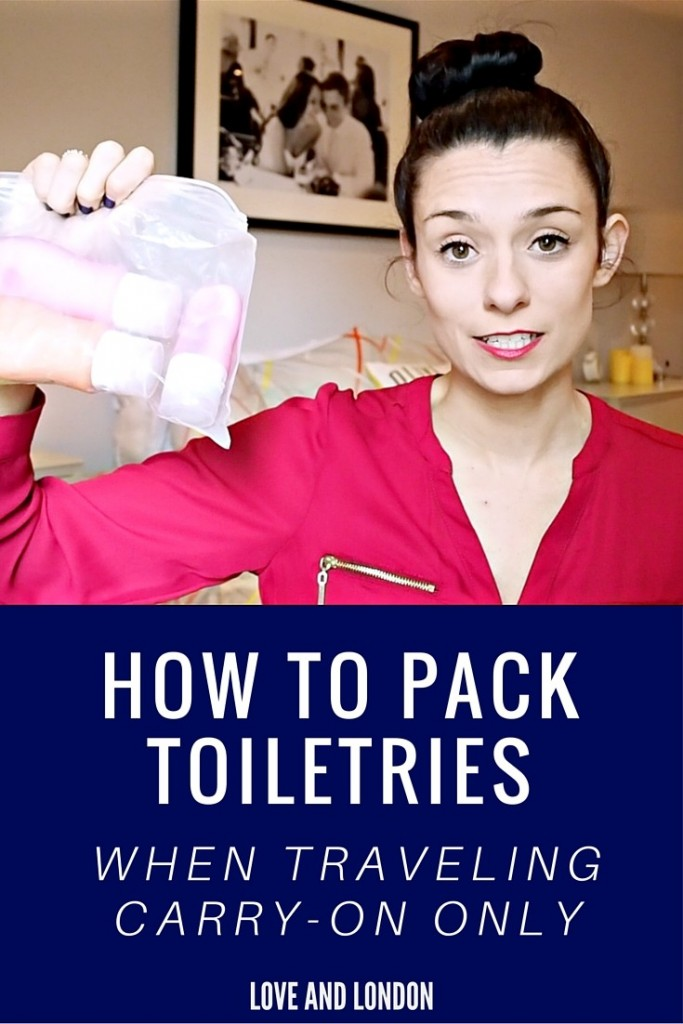 How to Pack Toiletries When Traveling With Just a Carry-on - if you're flying with just hold luggage or a carry-on bag, here's how you can pack your toiletries up easily and to prevent liquids from spilling. Watch this video to learn how to easily and quickly pack your toiletries in your carry-on bag!