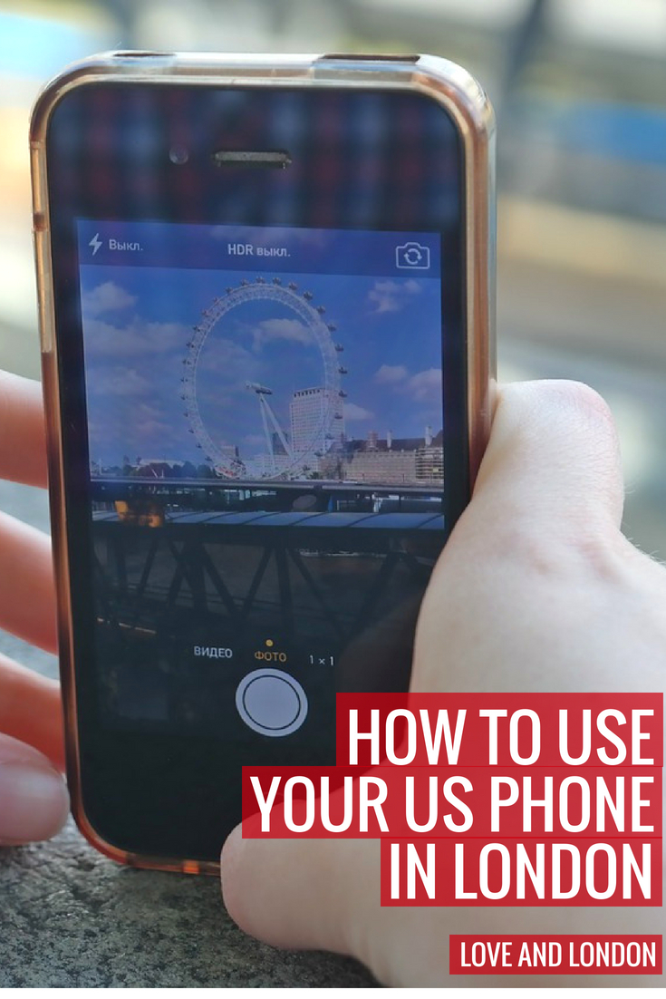 How to use your US phone in London (or any phone really.) Four affordable ways to keep your cell phone connected while visiting London. Great cell phone SIM card options for London tourists.