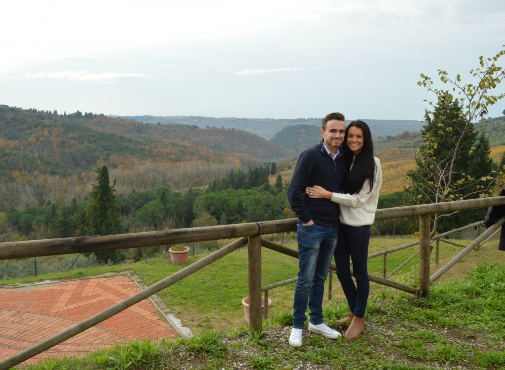 Jess and Tom in Tuscany