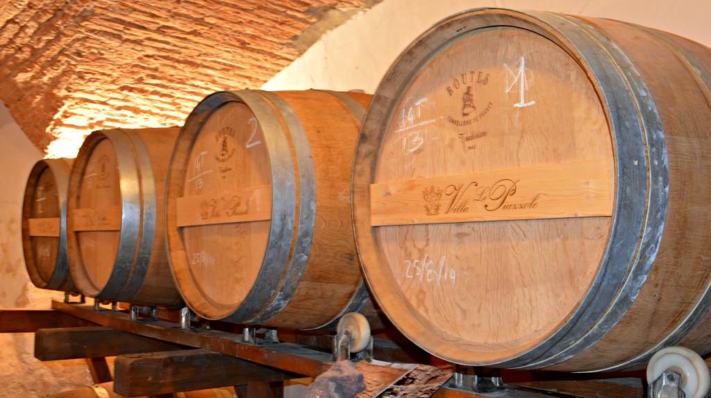 Le Piazzole Wine Barrels