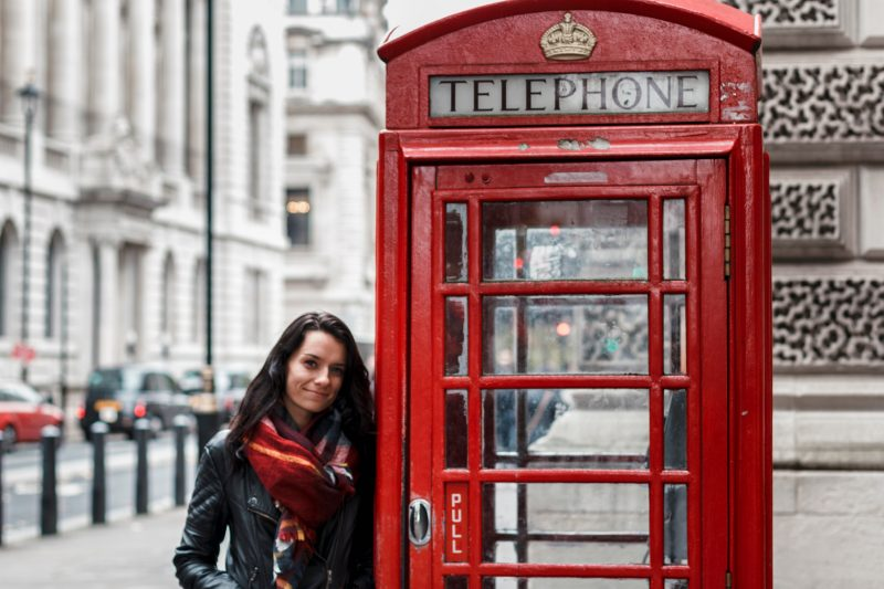 Where to take pictures of red phone boxes in London