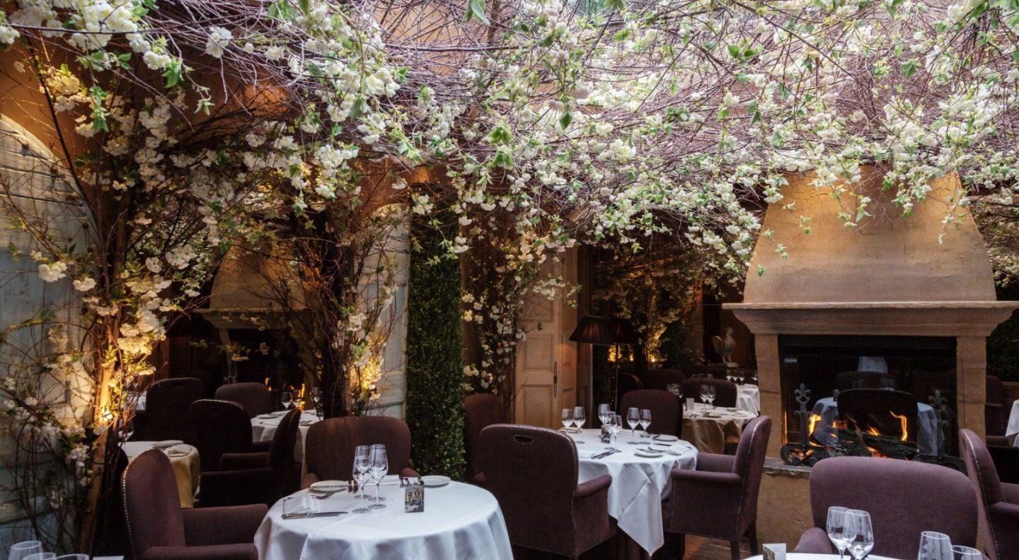 Clos Maggiore has been called the most romantic restaurant in the world. For more romantic spots in London, click through
