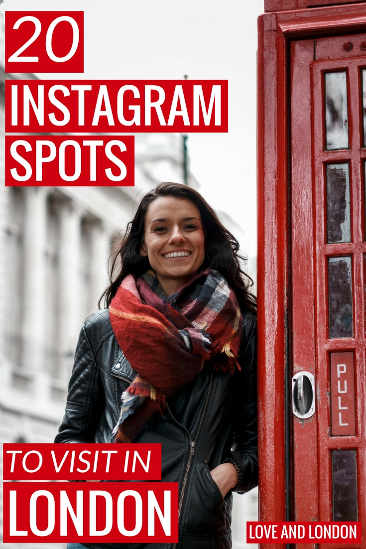 Top spots to get cool Instagram photos while in London. If you want to get great Instagram shots while you're in London, these are the spots to get them!