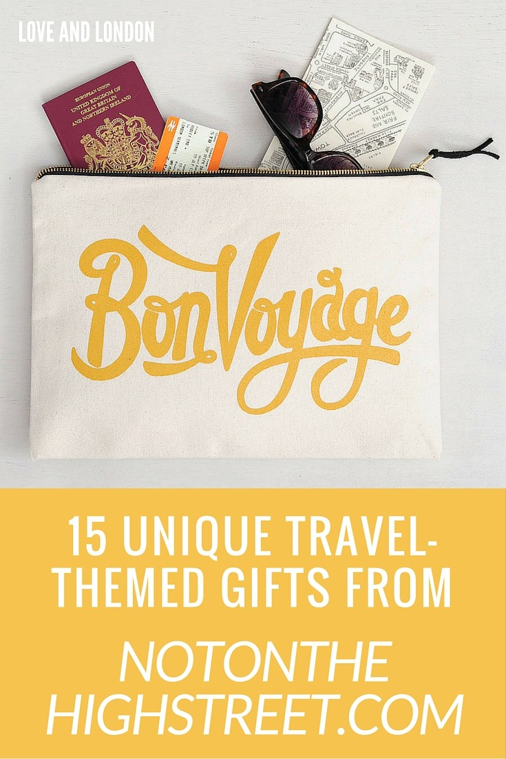 Travel Gifts from NotOnTheHighStreet - 15 travel-related gifts from NotOnTheHighStreet.com. Great gift ideas for people who love to travel.