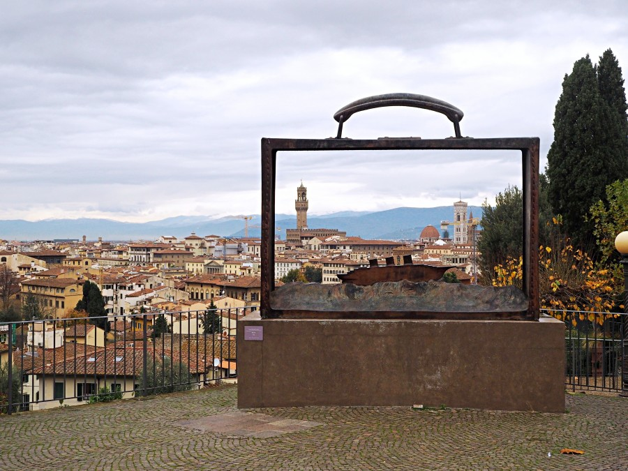 View of Florence from Rose Garden. You can get to this spot on the way up to Piazzale Michaelangelo. From the stylish travel site Love and London