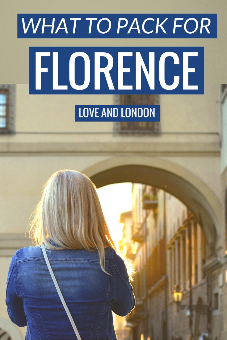 What to Pack When Visiting Florence Italy. A list of things you haven't thought to bring with you when visiting Florence.