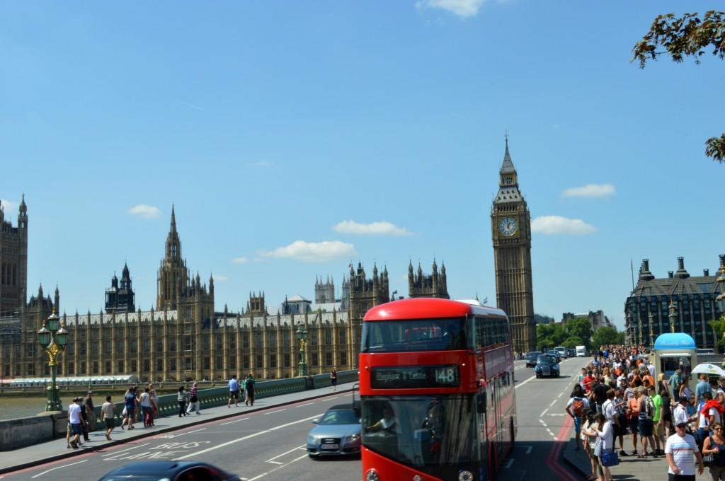 big ben red bus bridge