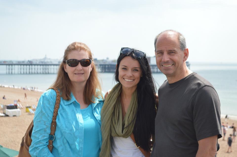 parents visiting brighton
