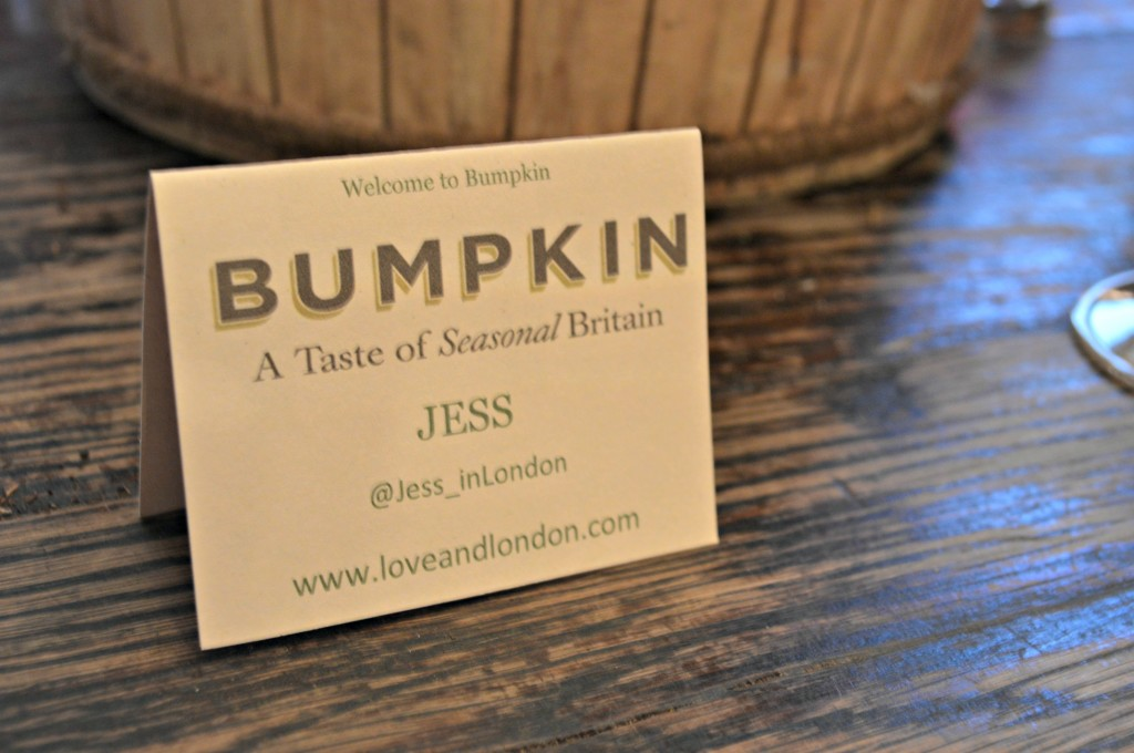 bumpkin london blogger dinner