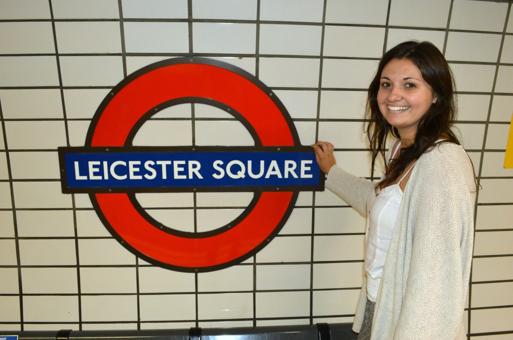 leicester square underground sign