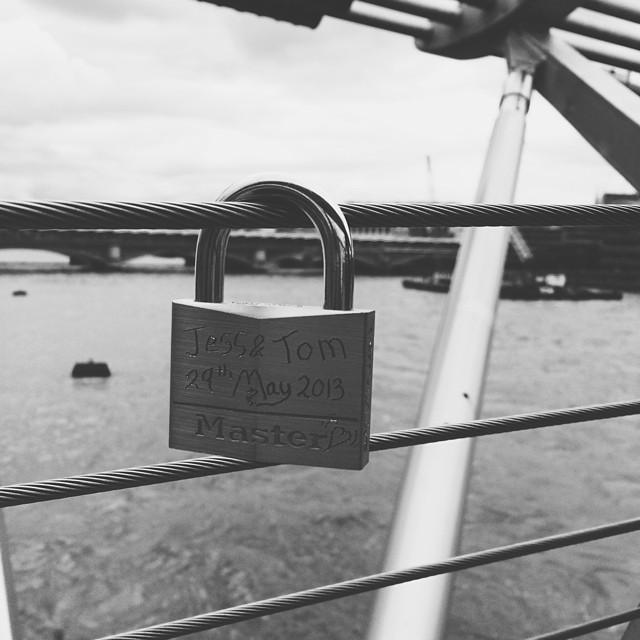 millenium bridge lock london