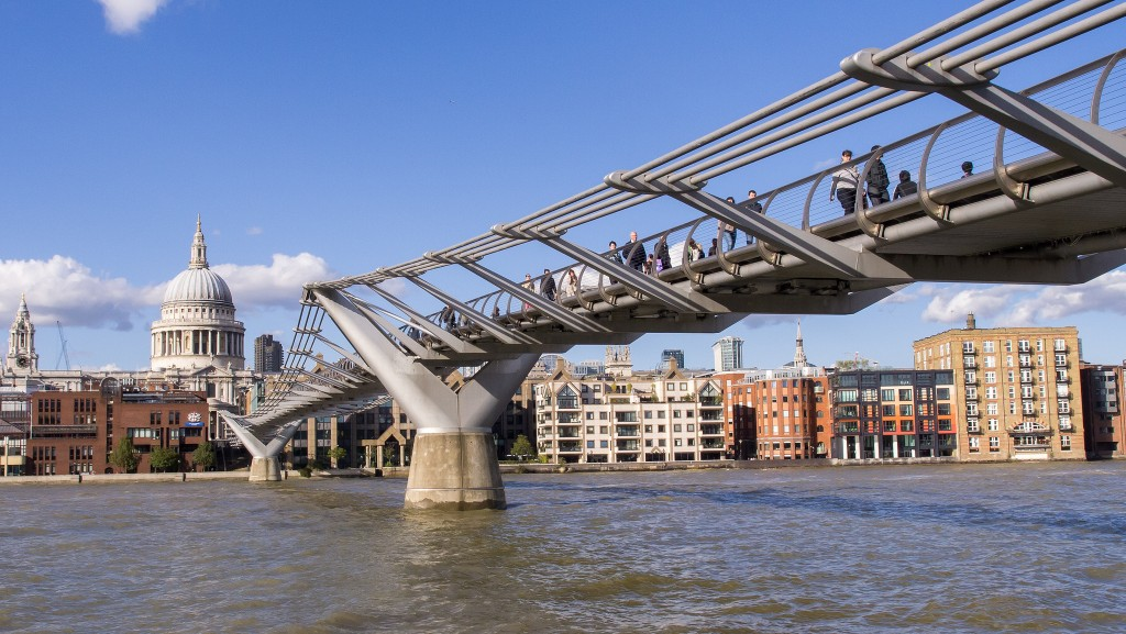 millennium bridge, what's around bankside in london, bankside area in london