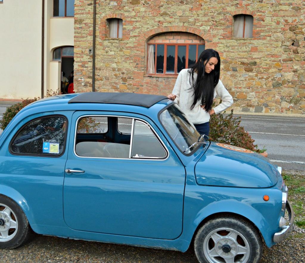 vintage fiat 500 tuscany