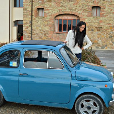 Driving a Vintage Fiat 500 Around Tuscany