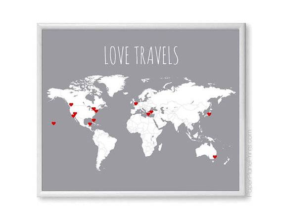 9 love travel diy map - Wedding Gift Ideas