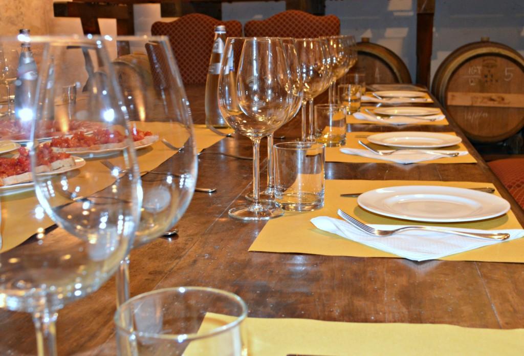 wine glasses Vintage Fiat Tour