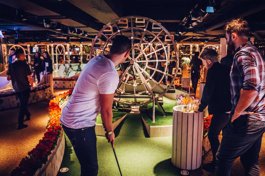 For a very low-impact, low-speed sport, visit Swingers (WA) near Oxford Circus or Bank for fun games of mini golf (they call it crazy golf here) plus lots of cocktail and street food options on offer. There's also Junkyard Golf in Shoreditch and Plonk Golf that has four venues around the city.