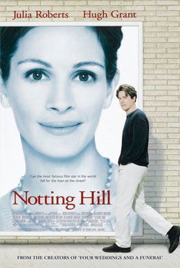A classic British romantic comedy, Notting Hill is as much a declaration of love for the area of Notting Hill as it is a quirky love story between Hugh Grant and Julia Roberts' characters.