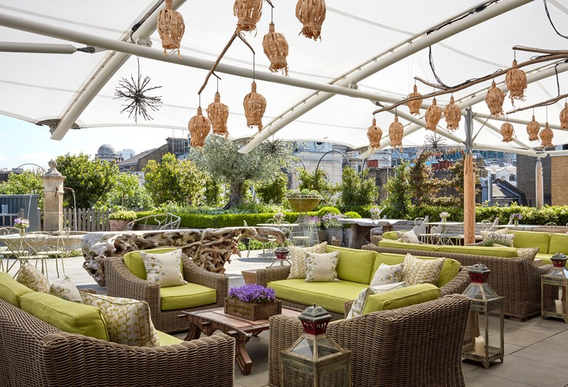 Best London Hotels With Rooftop Bars - Ham Yard Hotel in Soho
