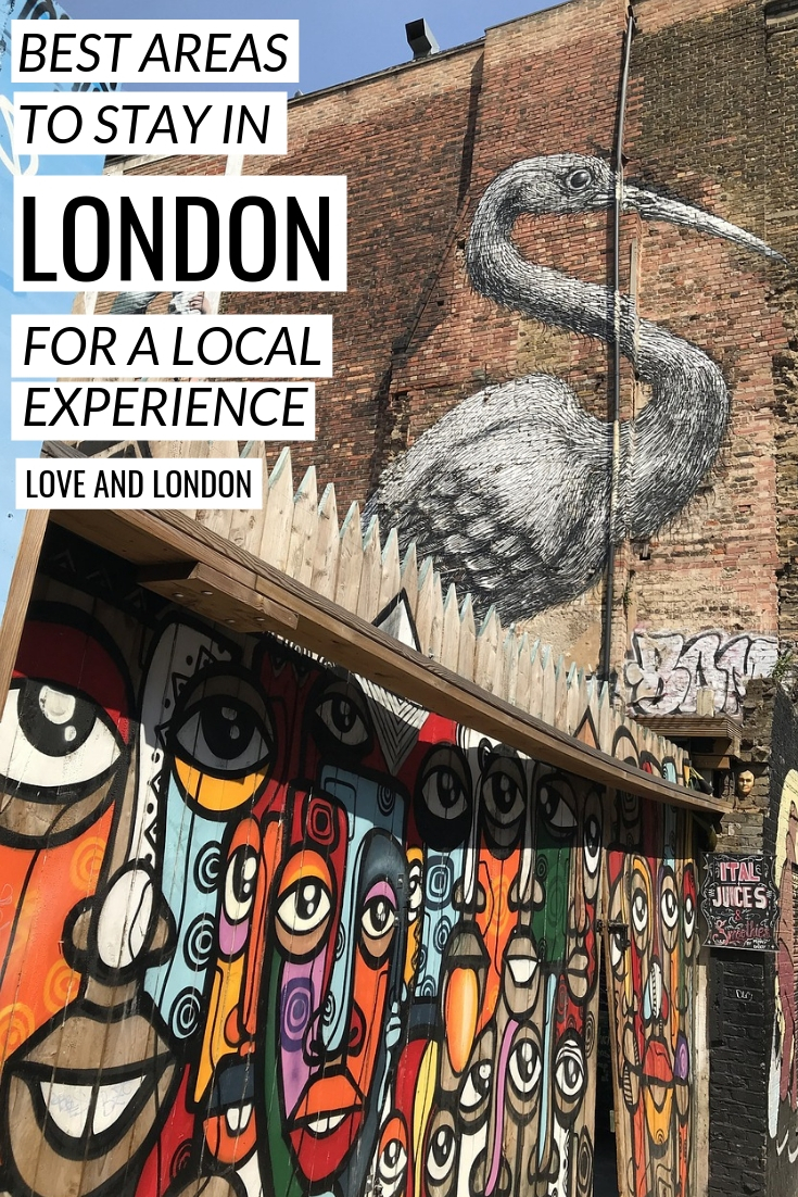 Best areas to stay in London that are in local neighborhoods - very cool areas to stay in London that locals love.