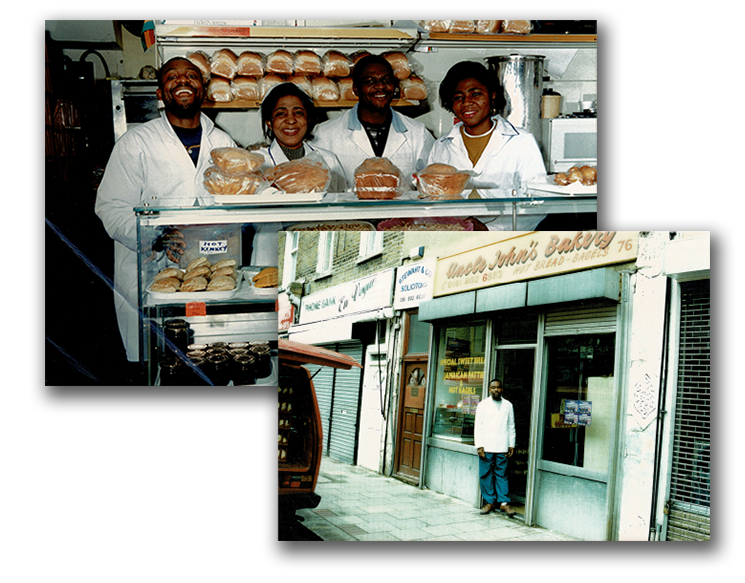 The UK's first and favourite Ghanaian bakery shares the great bakes of Ghana with the local community and beyond. The family-owned bakery opened in Tottenham in 1995 by Uncle John himself along with his wife.