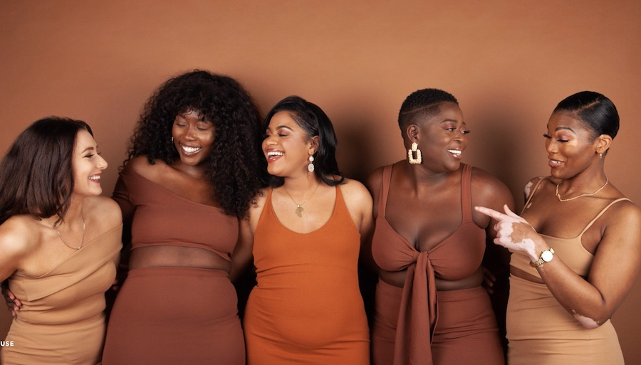 Sincerely Nude is a women's nude clothing brand that caters to a wide range of body shapes and sizes. It was started to celebrate women of all shades and to offer clothing that was nude for those of different skin tones. As well as being inclusive of skin tones, they're also inclusive of size, with their clothing ranging from extra small to double extra large.