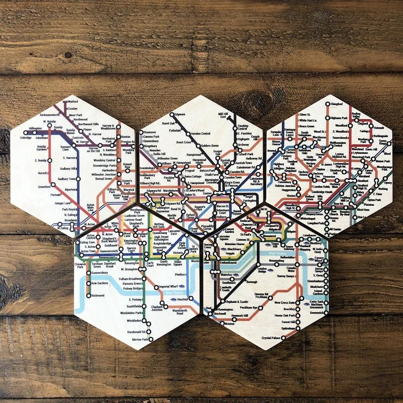 Cool London Tube Coasters - these are plastic free
