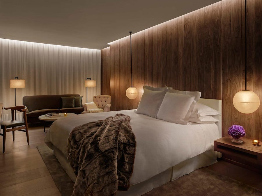 The London Edition was designed by none other than Studio 54 founder and boutique hotelier Ian Schrager, in collaboration with New York architecture firm Yabu Pushelburg. They restored the property, originally built as multiple Georgian townhouses in 1835-ish, to the glory that it is now. The new design somehow takes old-world grandeur that you'd expect from London and makes it more modern.