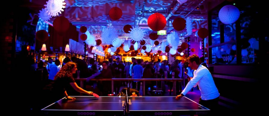 If you're into ping pong, Bounce(WA), located in Farringdon and Old Street, is your spot. It's also a bar, so don't worry, if you aren't good at ping pong, expectations are usually VERY low...