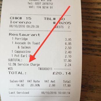 Tipping At Restaurants In London