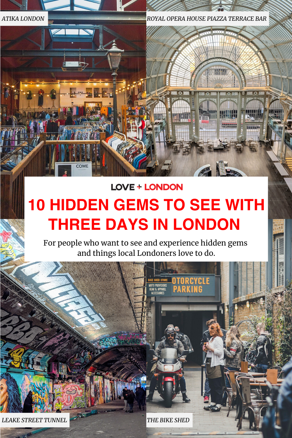 10 Hidden Gems to See with Three Days in London