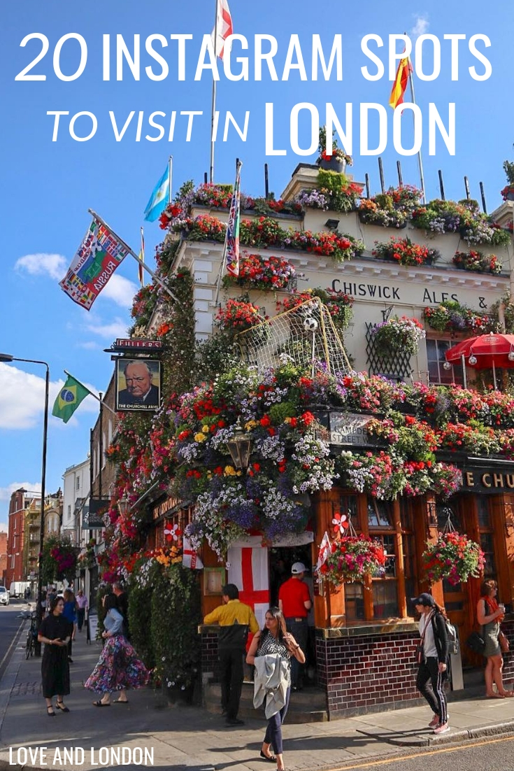 20 Instagram spots to visit in London. Get great photos at these top Instagram locations in London.