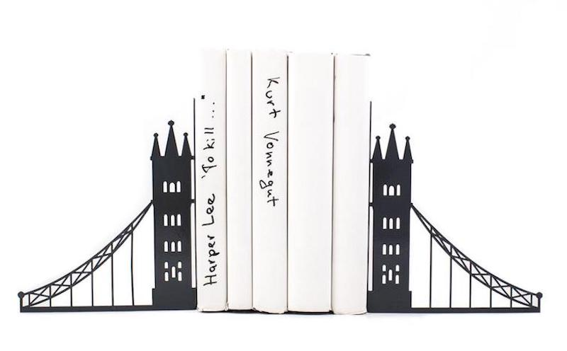 Unique metal bookends - London bridge - // decorative book holders // perfect housewarming gift // modern home decor