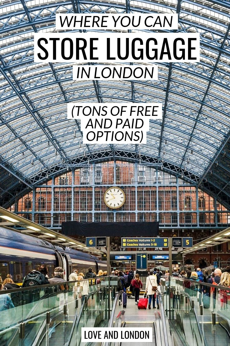 Where to store luggage in London