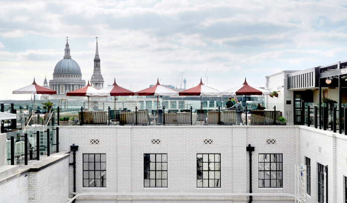hotels in London with rooftop restaurants - The Ned